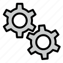 construction, gear, setting, tool icon