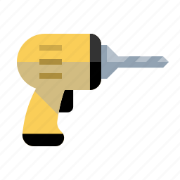 builder, carpenter, construction, drill, hole, tool icon