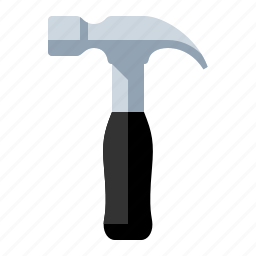 builder, carpenter, construction, hammer, nail, tool icon