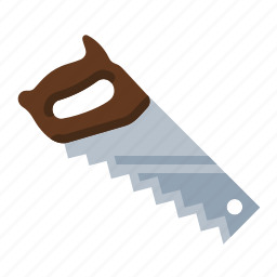 builder, carpenter, construction, cut, saw, tool, wood icon
