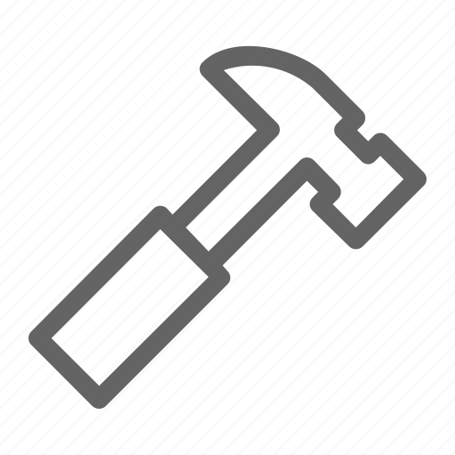 claw hammer, equipment, hammer, tool icon