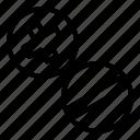 construction, equipment, minus, plus, screw, setting, tool icon