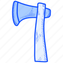 axe, cutting, hatchet icon