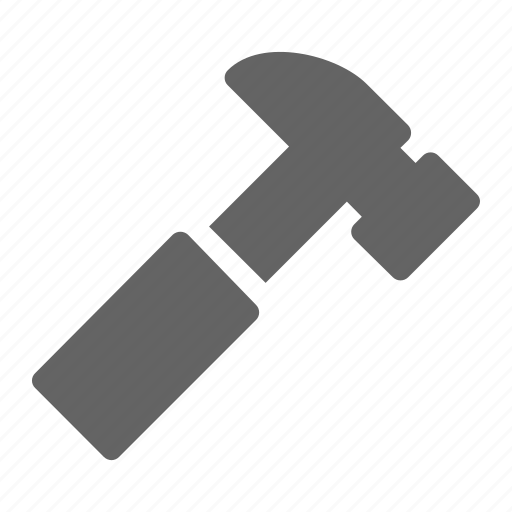 claw hammer, equipment, hammer icon