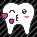 smile, emoticon, face, emoji, tooth icon