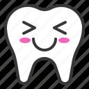 emoji, emoticon, face, smile, tooth icon