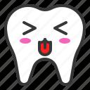 emoticon, face, emoji, tooth, tongue icon
