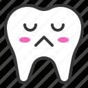 emoticon, face, emoji, tooth, thinking icon