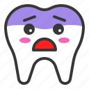 emoji, emoticon, face, tooth, worried icon