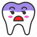bored, emoji, emoticon, face, tooth icon