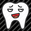 emoticon, face, mocking, emoji, tooth icon