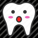 emoji, emoticon, face, surprise, tooth