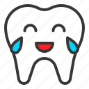 emoticon, face, laugh, emoji, tooth icon