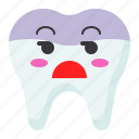bored, emoji, emoticon, face, tooth icon