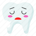 emoji, emoticon, face, sigh, tooth icon
