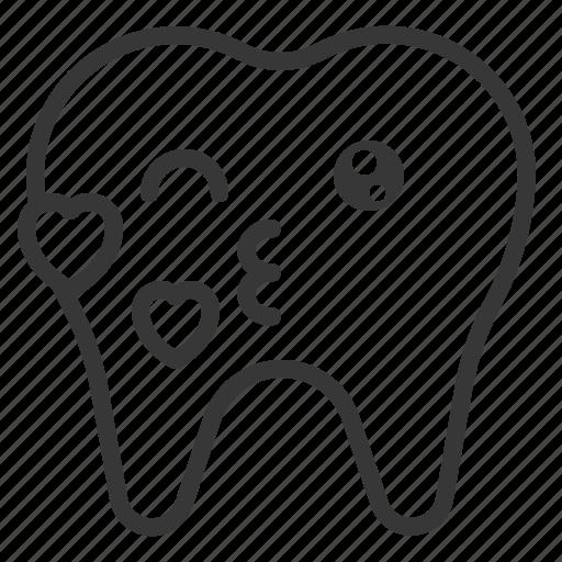 avatar, emoji, face, kiss, tooth icon