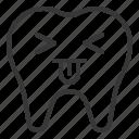 avatar, emoji, face, tongue, tooth