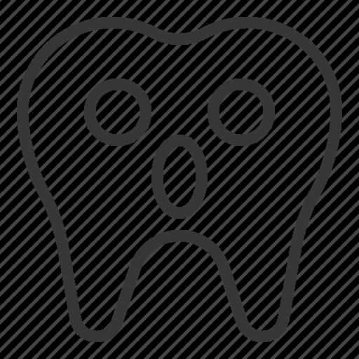 avatar, emoji, face, surprise, tooth icon