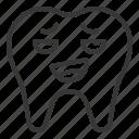 avatar, emoji, face, mocking, tooth icon