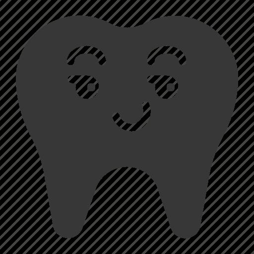dental, emoji, emoticon, face, smile, tooth icon