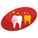 care, dot, health, pain, stomatology, tooth icon