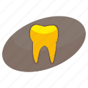 effect, gold, medicine, shine, stomatology, tooth icon