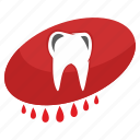 blood, medicine, pain, stomatology, tooth icon