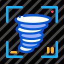 concept, de, tornado icon