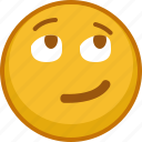 emoticon, emotion, smiley, interested, smile, emoji