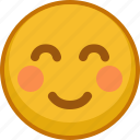 blush, emoji, emoticon, emotion, shy, smile, smiley icon
