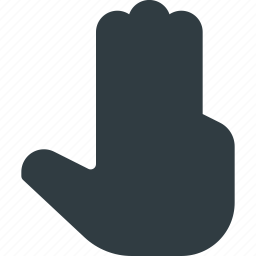 click, finger, gesture, hand, one, point, touch icon