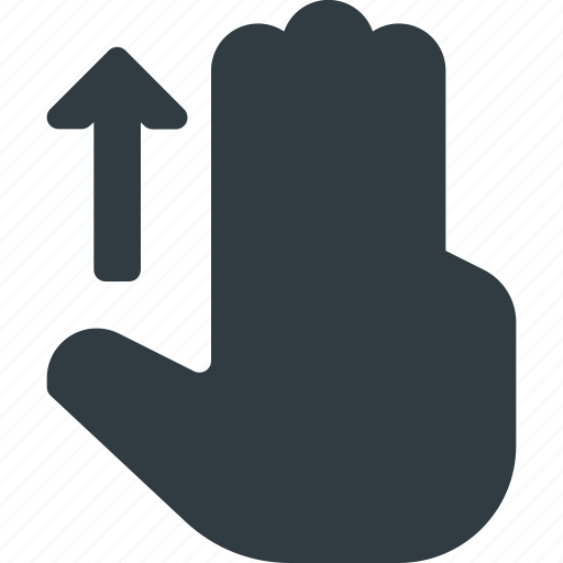 down, finger, gesture, hand, scroll, swipe, touch icon