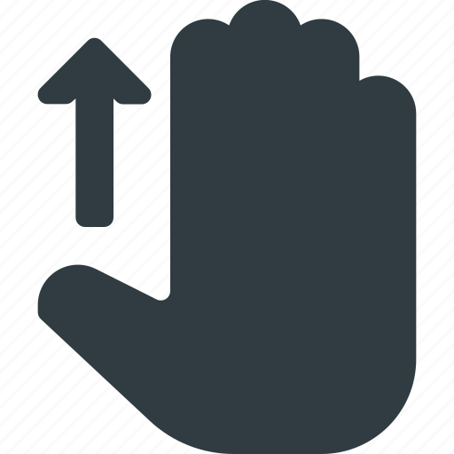 gesture, hand, scroll, swipe, touch, up icon