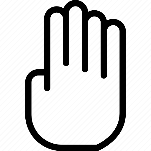 creative, finger, fingers, four, four-fingers, gesture, grid, hand, line, shape, touch, touch-gestures icon