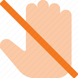 disallow, dont, gesture, hand, hold, no, touch icon