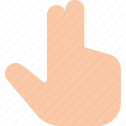 click, finger, gesture, hand, point, touch, two icon