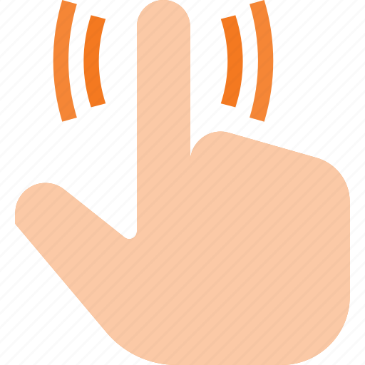 feedback, force, gesture, hand, touch, vibration icon