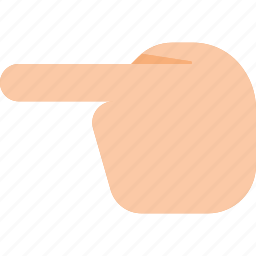 gesture, hand, left, point, show, touch icon