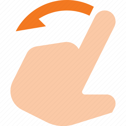 gesture, hand, left, swipe, touch icon