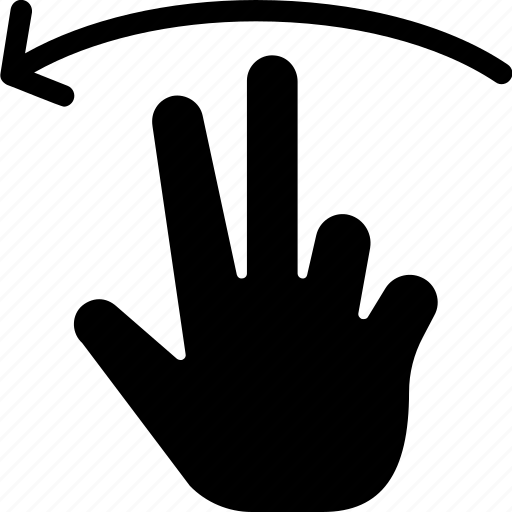 gestures, hands and gestures, left, multimedia option, swipe, touch icon