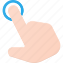 click, gesture, hand, point, touch icon