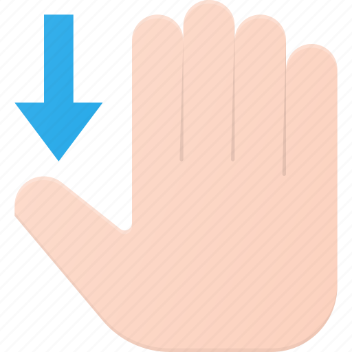 Down, gesture, hand, scroll, swipe, touch icon - Download on Iconfinder