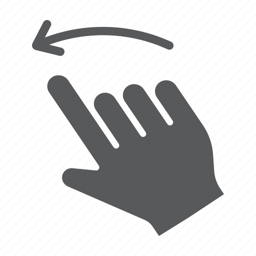 click, finger, flick, gesture, hand, left, touch icon