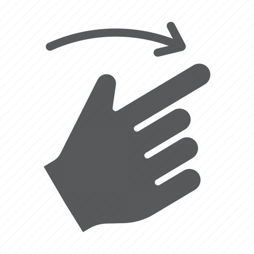 click, finger, flick, gesture, hand, right, touch icon
