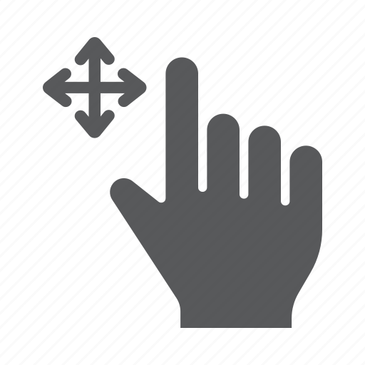drag, finger, free, gesture, hand, swipe, touch icon