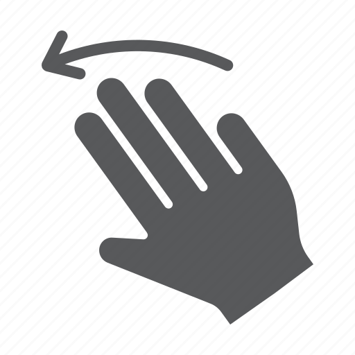 finger, flick, gesture, hand, left, three, touch icon