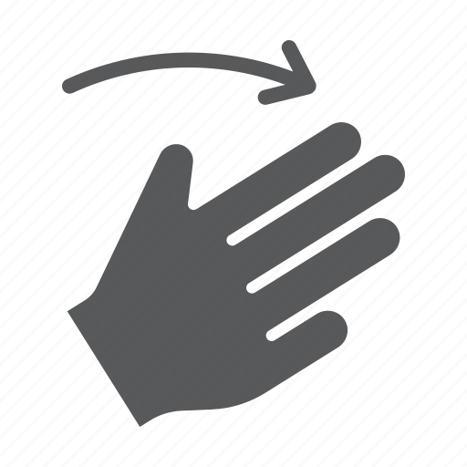 finger, flick, gesture, hand, right, three, touch icon