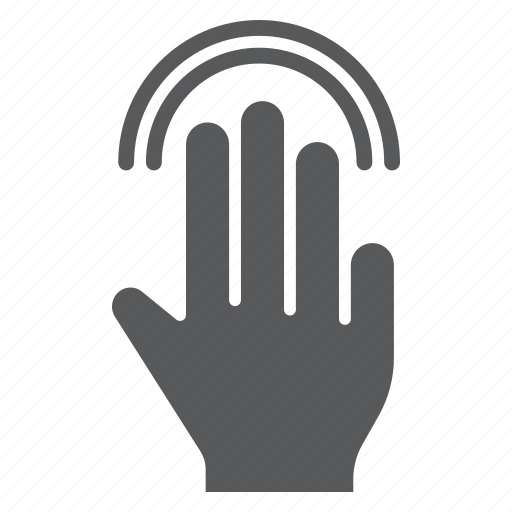 double, finger, gesture, hand, tap, touch, triple icon
