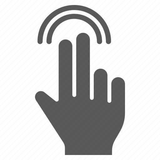 double, finger, gesture, hand, tap, touch, two icon