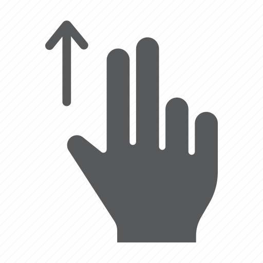 drag, finger, gesture, hand, touch, two, up icon